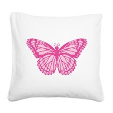 butterfly-pink.png Square Canvas Pillow