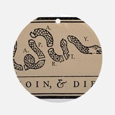 Tea Party - Join & Die Ornament (Round)