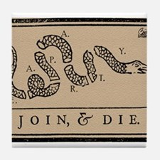 Tea Party - Join & Die Tile Coaster