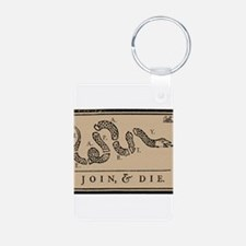 Tea Party - Join & Die Aluminum Photo Keychain