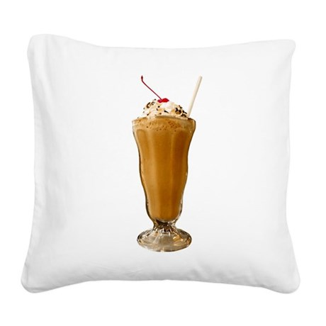 milkshake-chocolate.png Square Canvas Pillow