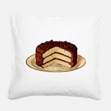 cake-retro_trans.png Square Canvas Pillow
