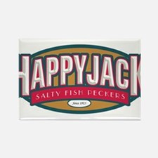 Happy Jack Fish Peckers Rectangle Magnet