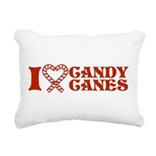 i-love-candy-canes.png Rectangular Canvas Pillow