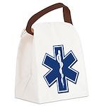 EMS EMT Rescue Logo Canvas Lunch Bag