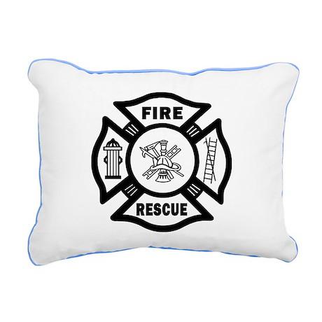 Fire Rescue Rectangular Canvas Pillow