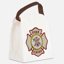 Fire Chief Maltese Canvas Lunch Bag