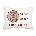 Fire Chief Property Rectangular Canvas Pillow