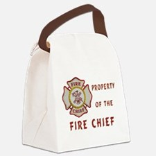 Fire Chief Property Canvas Lunch Bag