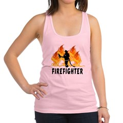 Firefighter Flames Racerback Tank Top