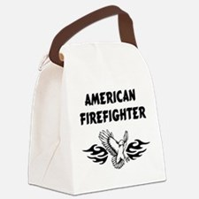 American Firefighter Canvas Lunch Bag