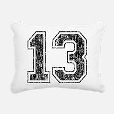 Retro 13 Number Rectangular Canvas Pillow