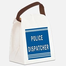 Police Dispatcher Blues Canvas Lunch Bag