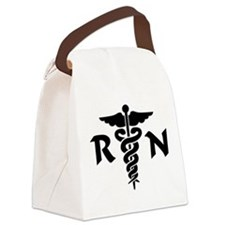 RN Nurse Medical Symbol Canvas Lunch Bag