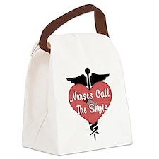 Nurses Call The Shots Canvas Lunch Bag