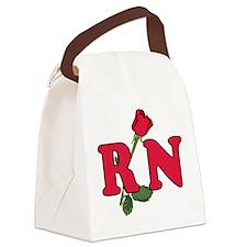 RN Nurse Rose Canvas Lunch Bag