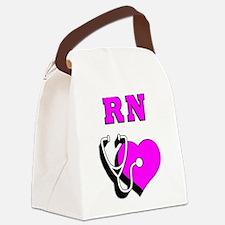 RN Nurses Care Canvas Lunch Bag