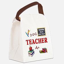 Teachers Do It With Class Canvas Lunch Bag