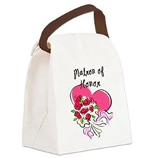 Matron of Honor Heart Bouquet Canvas Lunch Bag