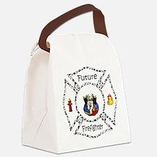 Future Firefighter Dalmatian Canvas Lunch Bag