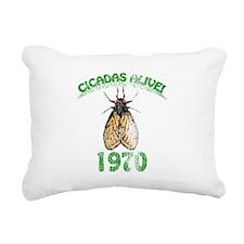 Retro 1970 Cicadas Rectangular Canvas Pillow