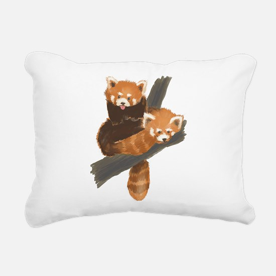 Cute Red panda Rectangular Canvas Pillow