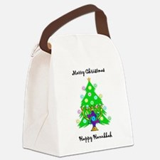 Hanukkah and Christmas Interfaith Canvas Lunch Bag