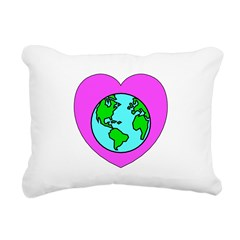Love Our Planet Rectangular Canvas Pillow
