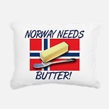norway-needs-butter.png Rectangular Canvas Pillow