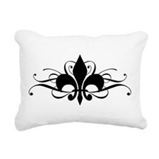 fleur-de-lis-swirls_dark.png Rectangular Canvas Pi