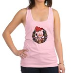 Christmas Penguin Holiday Wreath Racerback Tank To