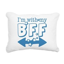 I'm with My BFF (BOTH) Rectangular Canvas Pillow