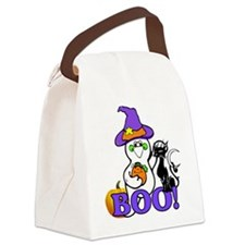 Halloween Ghost Canvas Lunch Bag