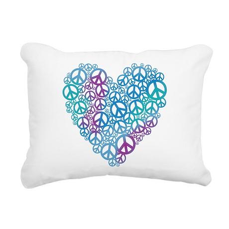 peace-heart.png Rectangular Canvas Pillow