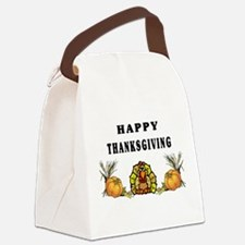 turkey feathers sign.jpg Canvas Lunch Bag
