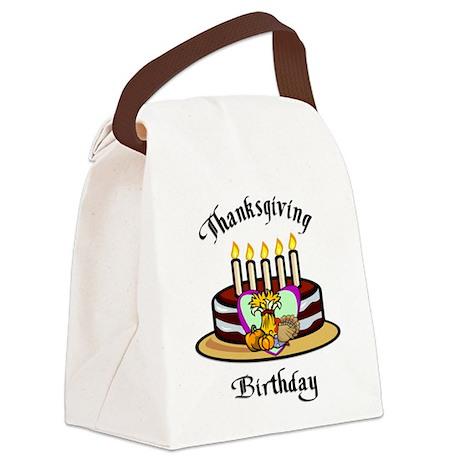 Thanksgiving Birthday Canvas Lunch Bag