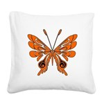 'Butterfly Tattoos Square Canvas Pillow