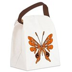 'Butterfly Tattoos Canvas Lunch Bag