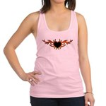 Flame Heart Tattoo Racerback Tank Top