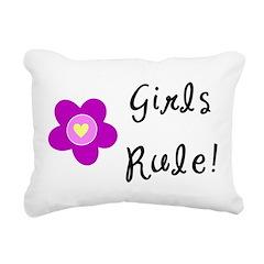Girls Rule Rectangular Canvas Pillow