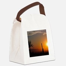 Desert Sunrise Canvas Lunch Bag