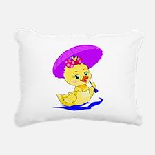Baby Duck Rectangular Canvas Pillow