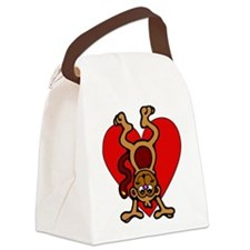 Monkey Love Canvas Lunch Bag