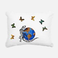 lizard world2.png Rectangular Canvas Pillow