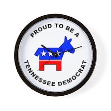 Tennessee Democrat Pride Wall Clock