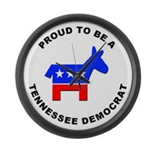 Tennessee Democrat Pride Large Wall Clock