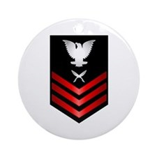 Navy Yeoman First Class Ornament (Round)