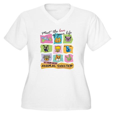 Meet Love Life z10x10 Plus Size T-Shirt