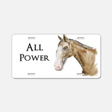 All Horse Power Aluminum License Plate