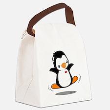Happy Penguin (2) Canvas Lunch Bag